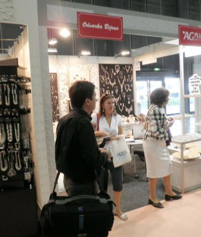 Leading lady visited Odvarka bijoux at Kabo-Styl fair in Brno.