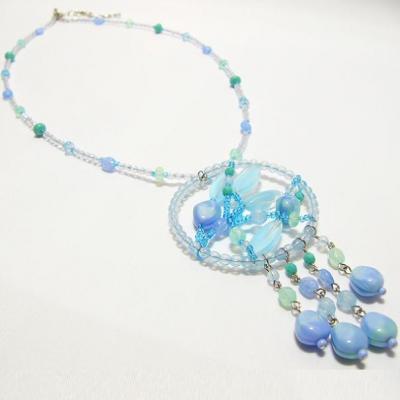 náhrdelník, sv. modrý