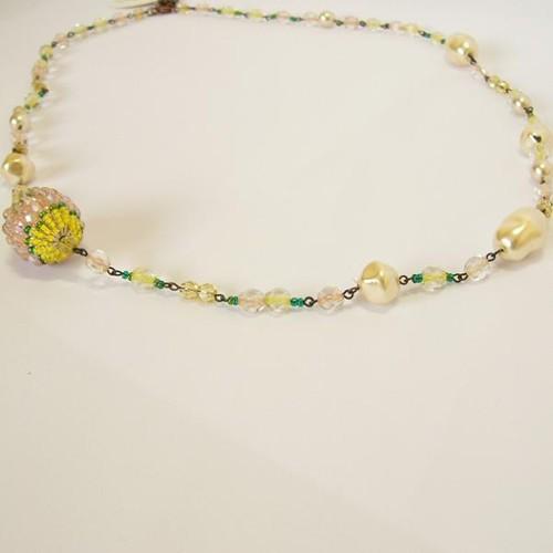 náhrdelník, sv. jarní multikolor