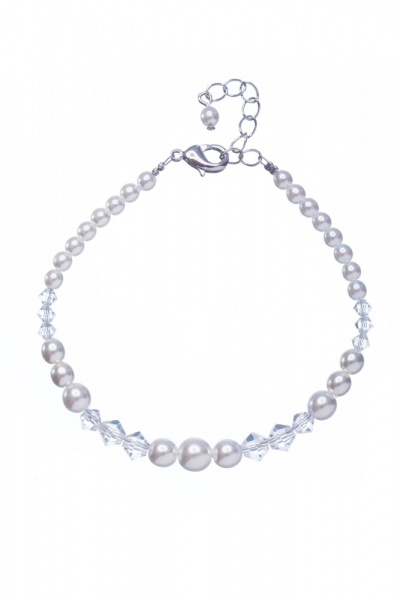Bracelet made from pearls and sunbeads
