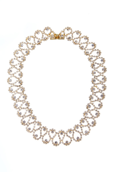 Exclusive strass necklace, gold
