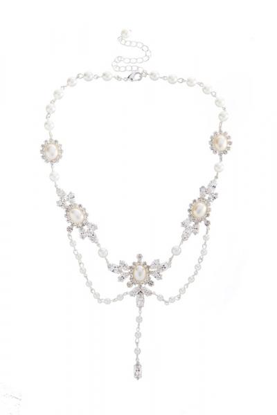 elegantní náhrdelník, stříbro