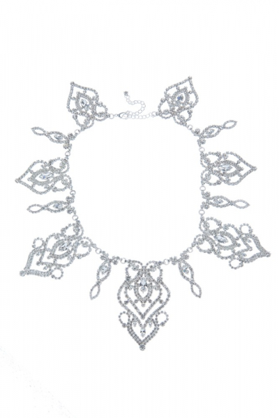 Okázalý štrasový náhrdelník, krystal