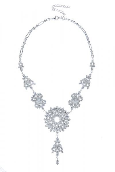Luxusní náhrdelník z českých broušených kamenů, stříbro