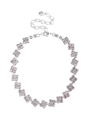 elegantní náhrdelník, krystal / stříbro