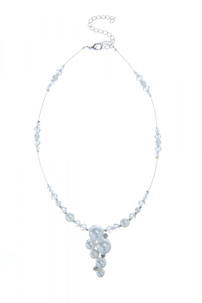 Perlový náhrdelník s broušenými sluníčky