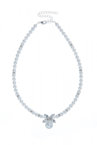 Pearl necklace with strass