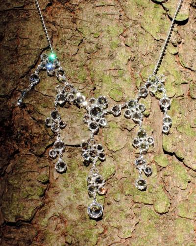Náhrdelník křišťálový, Swarovski, krystal / stříbro
