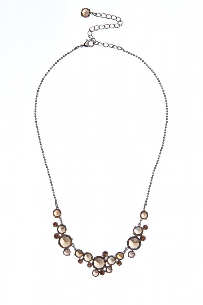 Elegant crystal necklace made from czech rhinestones