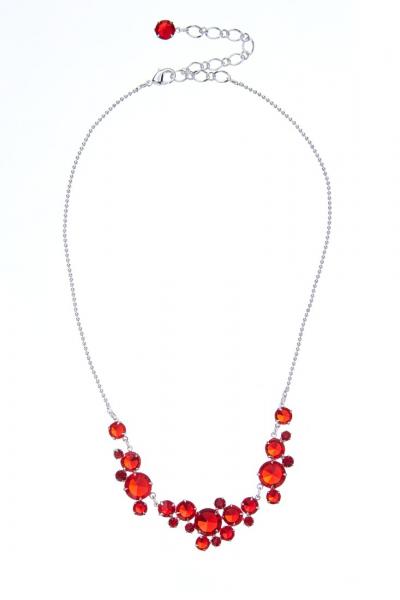 elegantní křišťálový náhrdelník, stříbro