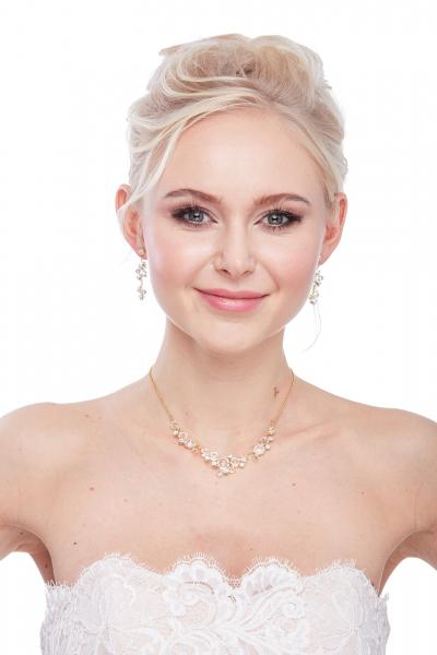 Elegantní křišťálový náhrdelník, zlato
