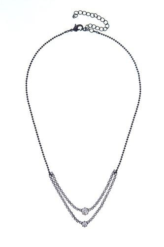 náhrdelník křišťálový, černá