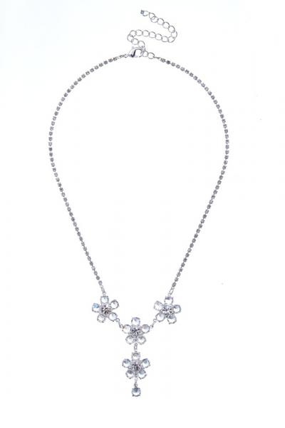 náhrdelník křišťálový, stříbro
