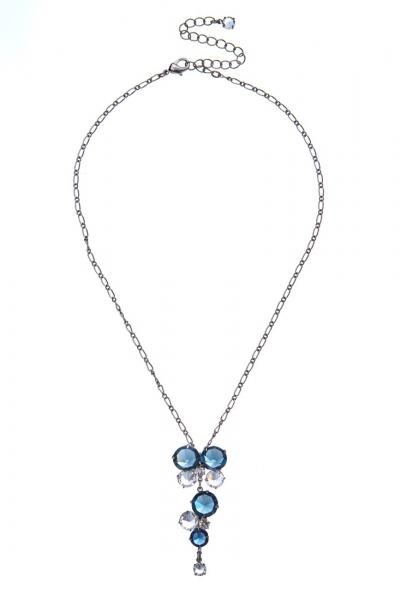 náhrdelník křišťálový, paladium