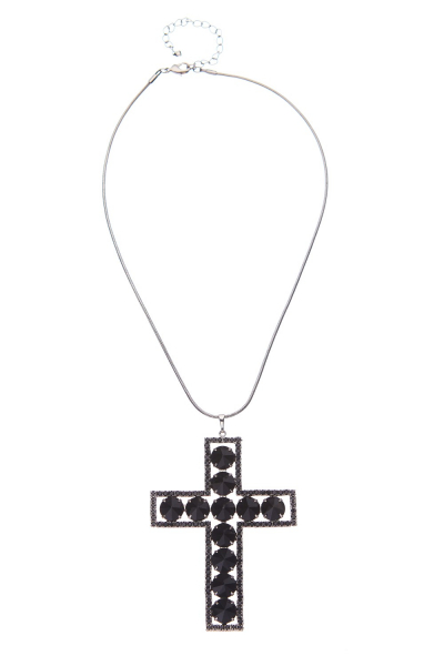 exklusivní náhrdelník, jet / paladium