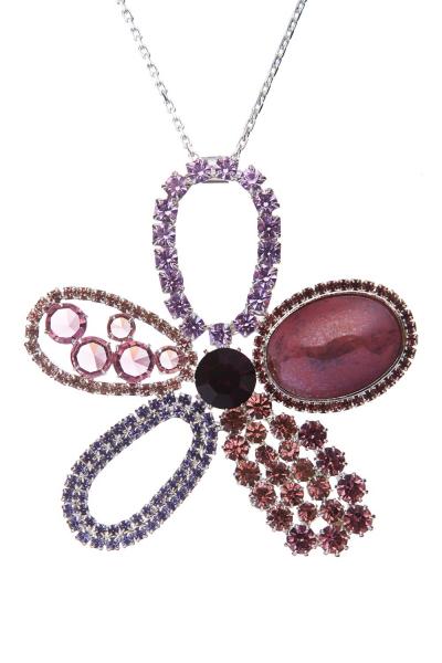 exklusivní náhrdelník na dlouhém řetízku, stříbro