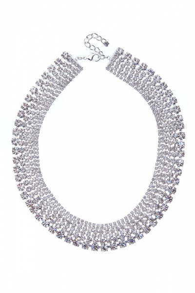 Massive strass necklace