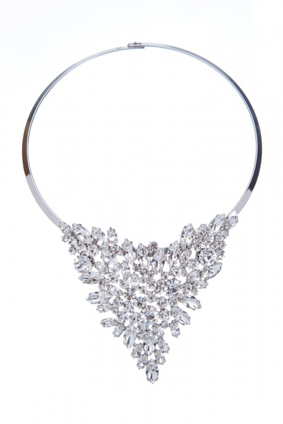 Luxurious necklace on a hoop
