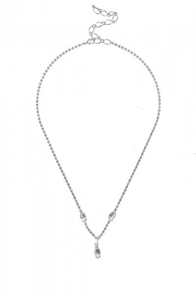 Jemný náhrdelník, krystal / stříbro