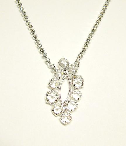 Jemný svatební náhrdelník na štrasovém řetízku