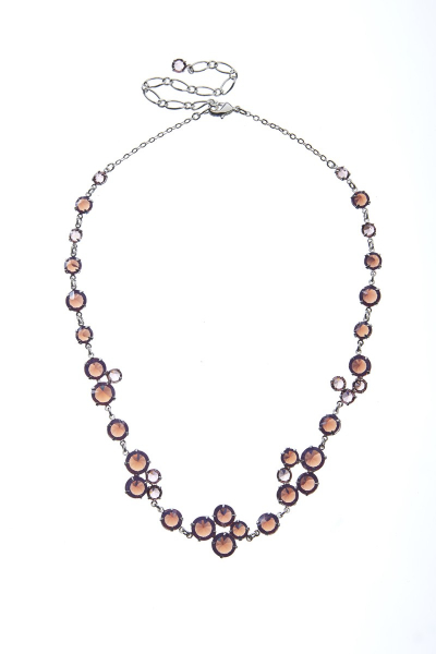 Beautiful necklace made from Czech rhinestones, rhodium