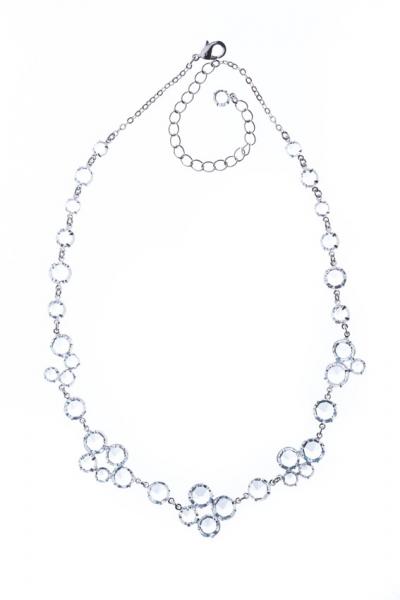 Zdobný šanelový náhrdelník, stříbro