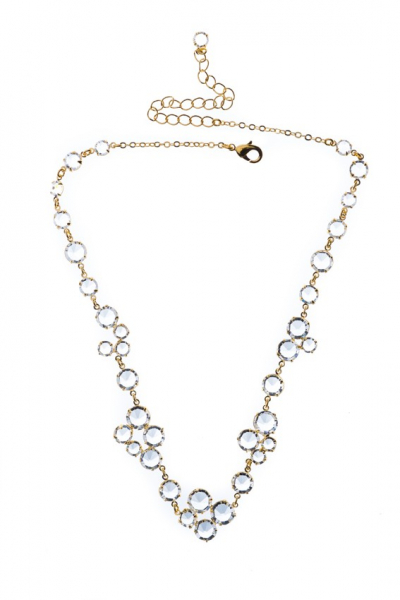 Zdobný šanelový náhrdelník, zlato