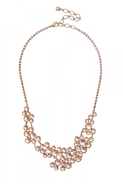 Rich rhinestone necklace