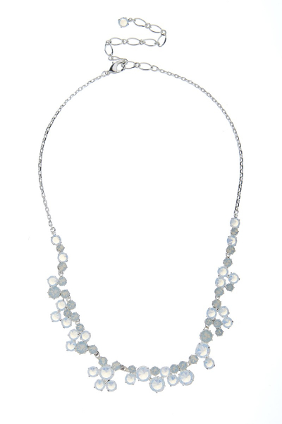 Sparkling necklace made from Czech rhinestones