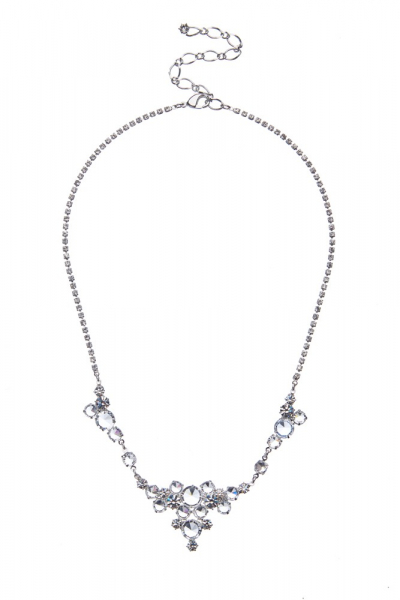 Crystal necklace on a strass chain