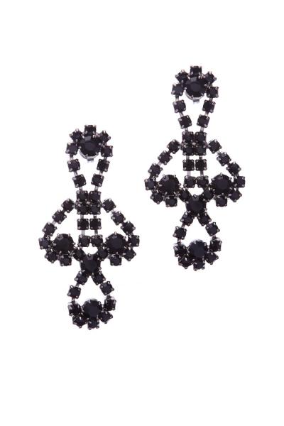 earrings, paladium