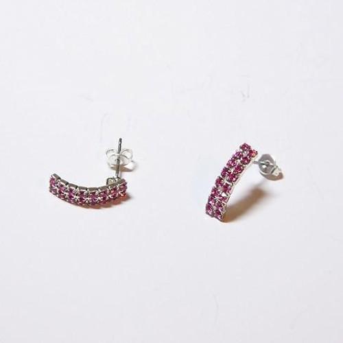 earrings, silver plating