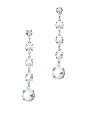 earrings, silver