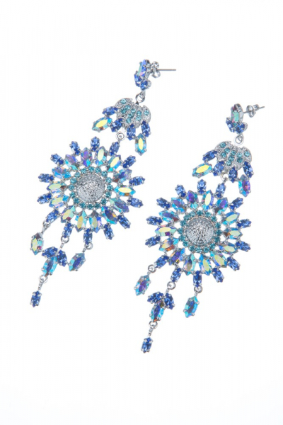 Exclusive strass earrings made from czech rhinestones, rhodium