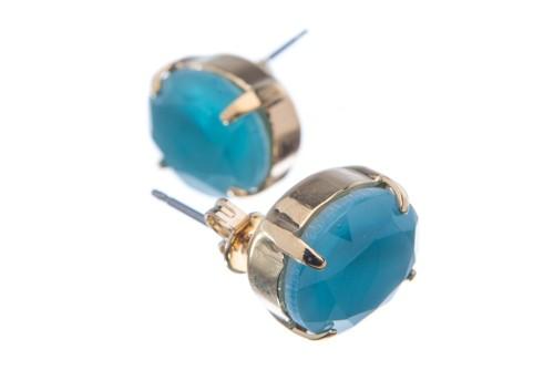 Náušnice se speciálním kamenem, modrý opál