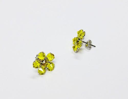 Žluté náušnice - kytička