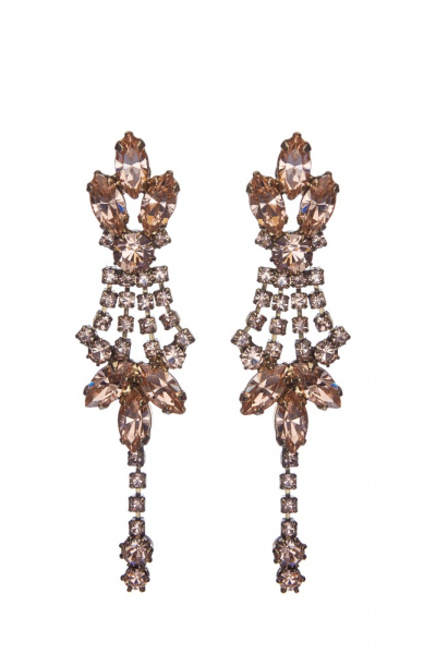 Strass earrings, pin