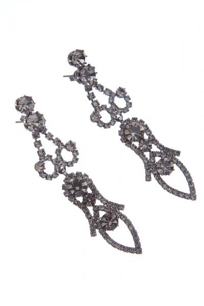 Exkluzivní náušnice, black diamond