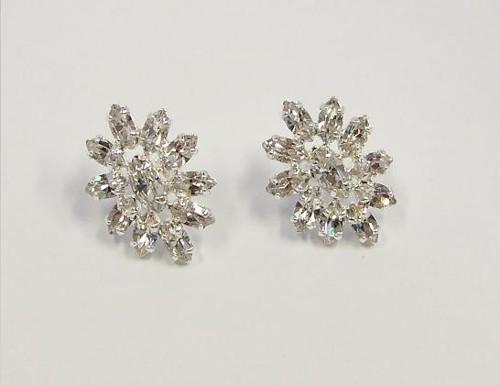 massive earrings, silver