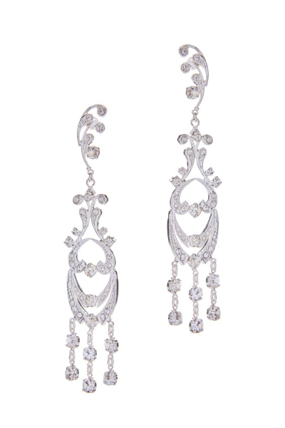 Strass earrings – silver