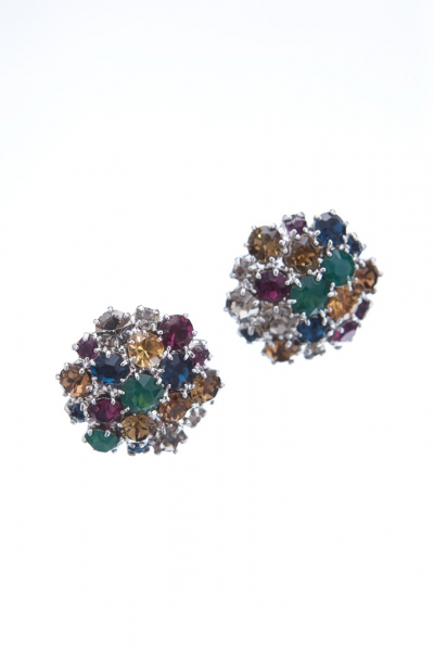 Beautiful earrings made from czech rhinestones in autumn colours