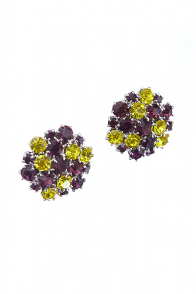 Beautiful earrings made from czech rhinestones