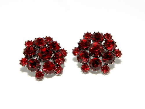 Exclusive earrings made from Czech rhinestones