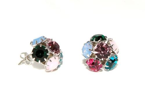 Fashion earrings – rhodium