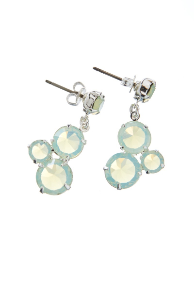 Earrings made from Czech rhinestones, pin