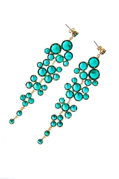Šanelové náušnice, emerald