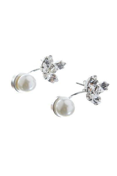 Oboustranné náušnice s perlou