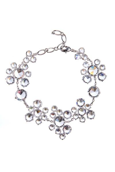 Elegant bracelet made from Czech rhinestones – crystal/silver