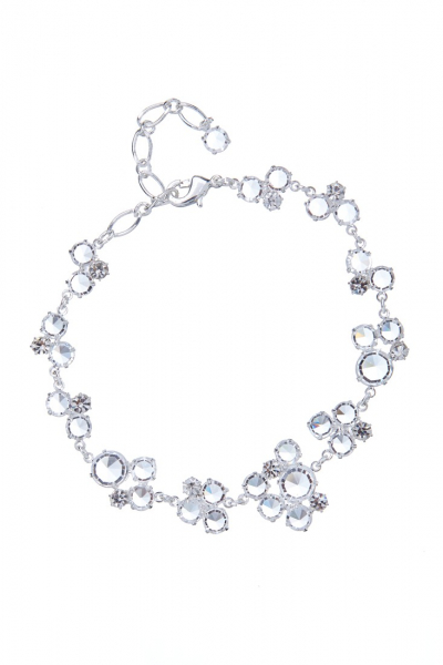 Elegant bracelet made from Czech rhinestones