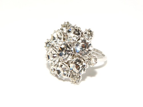 Exclusive ring made from Czech rhinestones
